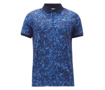 Spot Printed-jersey Polo Shirt