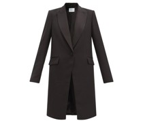 Hussard Single-breasted Satin-lapel Wool Coat