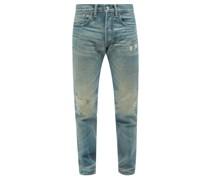 Distressed Slim-leg Jeans