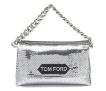 Sequinned Satin Clutch Bag