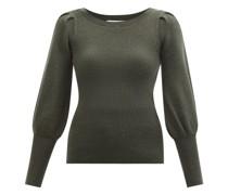 The Eva Balloon-sleeve Wool-blend Sweater