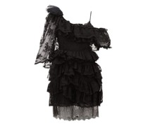 Valerie One-shoulder Tiered Lace Dress