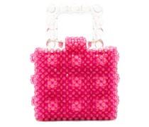 Maud Squared Top-handle Beaded Handbag