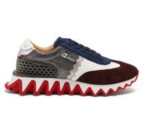 Loubishark Mesh And Suede Trainers