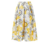 Ina Floral Fil-coupé Cotton-blend Skirt