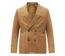 Leon Double-breasted Cotton-twill Jacket