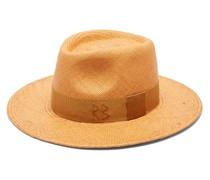 Grosgrain-trim Straw Hat