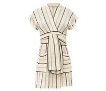 Aurora Striped Cotton Mini Dress