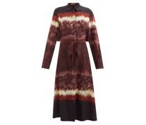 Lucie Tie Dye-print Crepe Midi Shirt Dress