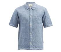 Seoul Linen Short-sleeved Shirt