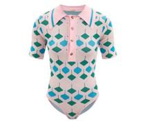 Toto Open-back Geometric-jacquard Bodysuit