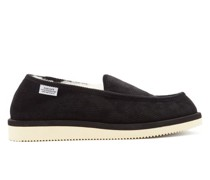 Corduroy Shearling-lined Slippers