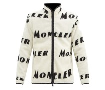 Reversible Logo-print Fleece Zip-through Jacket