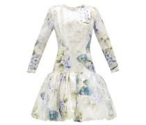 Floral-print Sequin Dress