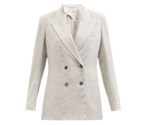 Roth Double-breasted Mélange-cashmere Blazer