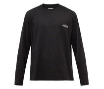 Logo-print Long-sleeved Cotton-jersey T-shirt