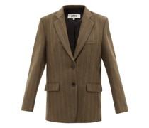 Pinstriped Wool-blend Felt Blazer