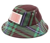 Logo-print Checked Bucket Hat