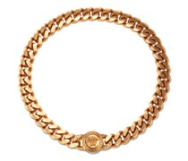 Medusa-plaque Chain Necklace