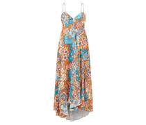 Mila Bow-back Floral-print Twill Dress