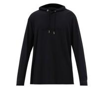 Logo-embossed Cotton-jersey Hooded Sweatshirt