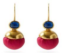 Candy Ball Silk & 18kt Gold Earrings