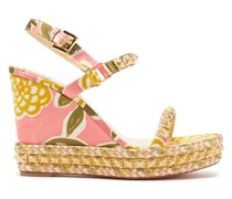 Pyraclou 110 Studded-satin Wedge Sandals