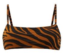 Sia Tiger-jacquard Bikini Top