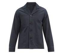 Benjamin Single-breasted Cotton-canvas Suit Jacket