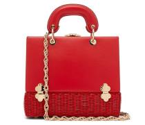Sixty-six Large Wicker & Leather Box Bag