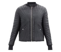 Splayed-quilting Down Bomber Jacket