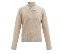 Shawl-collar Merino Wool-blend Sweater