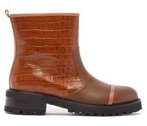 Bibi Crocodile-effect Leather Boots