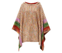 Space-dyed Wool Hooded Poncho