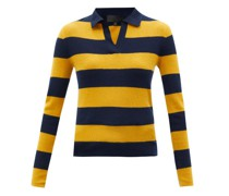 Lucille Rugby-stripe Cashmere Sweater