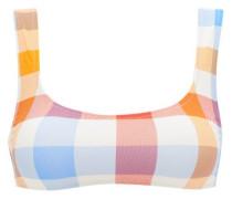 The Elle Gingham Scoop-neck Bikini Top