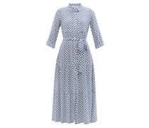 Tiered Geometric-print Recycled-fibre Maxi Dress