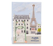 Paris Metro Guide Embroidered Book Clutch Bag