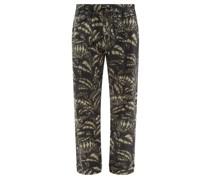 Pardalis Reptile-print Cotton Pyjama Trousers