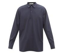Point-collar Virgin-wool Poplin Shirt