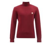 Fox Head Roll-neck Wool Sweater