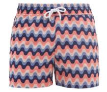 Copacabana Wave-print Swim Shorts