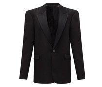Genesis Single-breasted Peak-lapel Wool Jacket