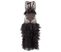 Ruffled Polka-dot Silk-organza Gown