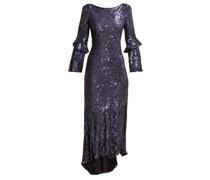 Polina Sequinned Chiffon Dress