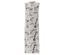 Spotty Fern-print Silk Crepe De Chine Maxi Dress