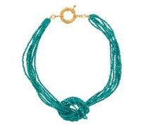 Turquoise-pearl 24kt Gold-plated Necklace
