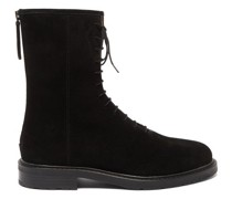08 Lace-up Suede Ankle Boots