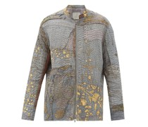 Patchwork Embroidered Vintage Silk Jacket