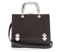 Sixty Six Small Leather & Metal Box Bag
